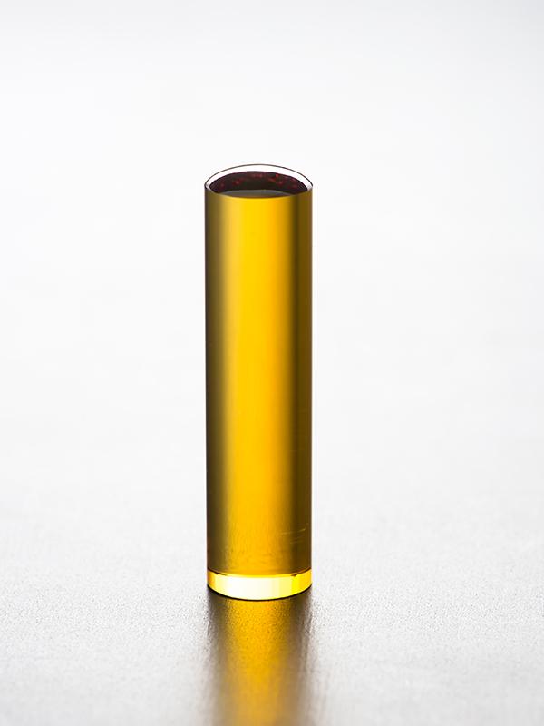 黄水晶のはんこの写真