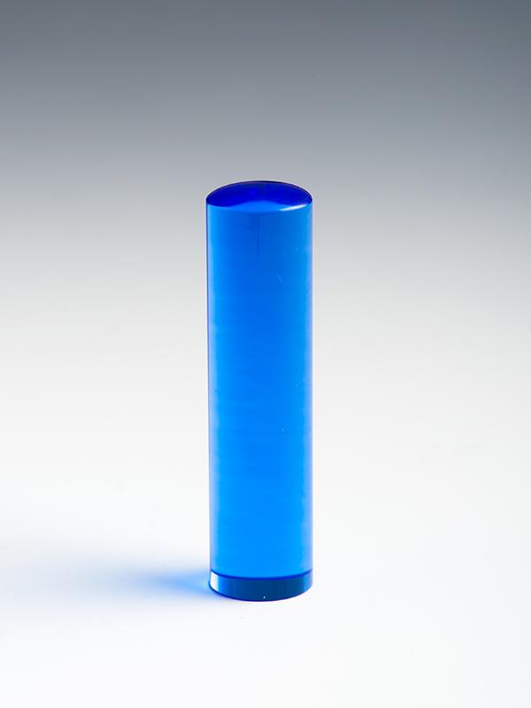 ブルー水晶のはんこの写真